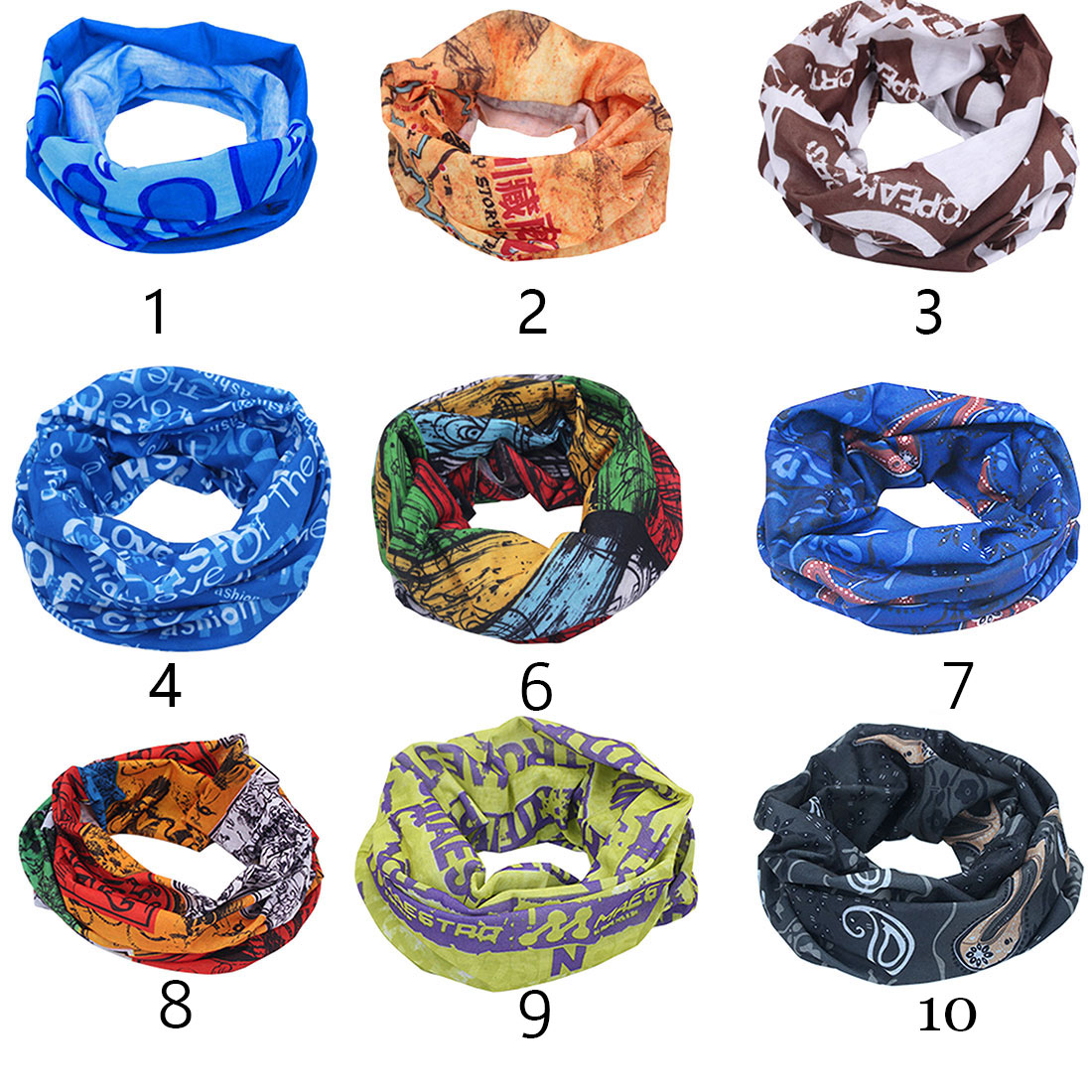Camping & Hiking Scarves 1pc Outdoor Sport Camping & Hiking Scarves Cycling Bicycle Head Scarf Magic Headband Face Mask Snood Bandana Neck Warmer
