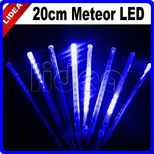 20CM Meteor Shower Rain Garden New Year Xmas Navidad Garland Fairy String LED Lamps Christmas Decoration Outdoor Light CN C-26 fairy led solar panel meteor shower string lights waterproof garden outdoor home tree lamp festival new year garland decoration