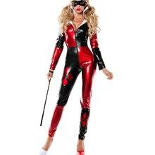 harley quinn costume women adult batman sexy cosplay bodysuit halloween costumes