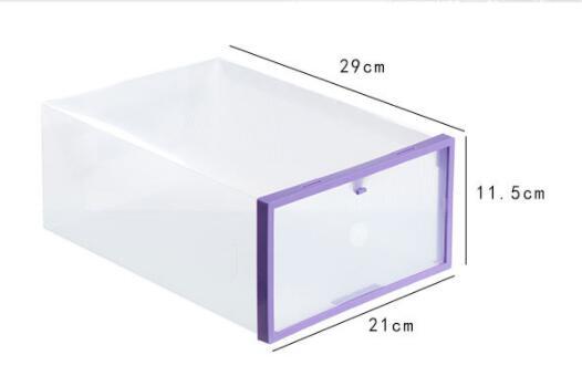 5PC Foldable Shoe Cabinet Shoe Organizer Shoe Storage Box Plastic Shoe Box Transparent Drawer Organizer Stackable Plastic Box in Storage Boxes Bins from Home Garden