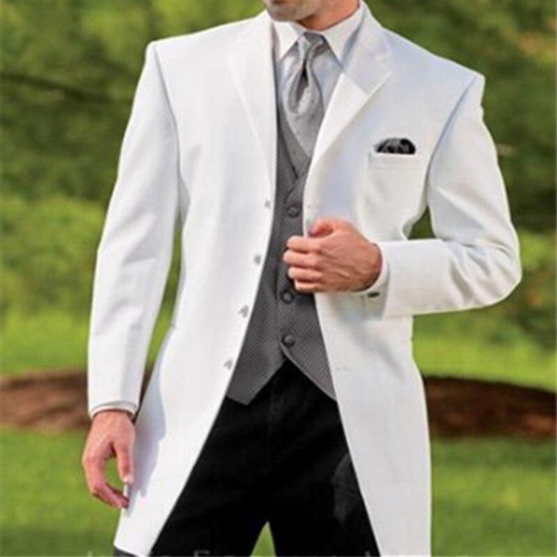 TPSAADE ขายส่งชุดใหม่ของชุดคาวบอยสีขาวเจ้าบ่าวงานแต่งงานชุดกางเกงสีดำออกแบบใหม่คลาสสิกผู้ชาย Blazer 3 Pcs 347-ใน สูท จาก เสื้อผ้าผู้ชาย บน AliExpress - 11.11_สิบเอ็ด สิบเอ็ดวันคนโสด 1