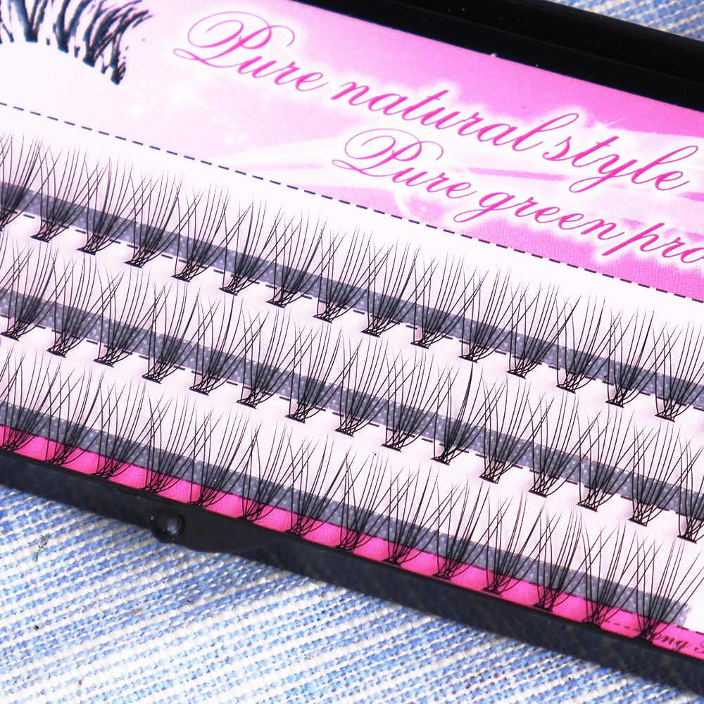 60 шт. отдельные ресницы балки норковые накладные пучки ресниц 3d ресницы расширение прививки накладные ресницы пучки макияж
