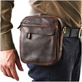 Hot Sale Top Quality Genuine Real Leather Cowhide men vintage Messenger Bag Pouch Waist Belt Pack Bag B210