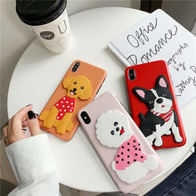 For Huawei P20 P20 Pro P30 P30 Plus Mate 20 Pro Phone Cases 2019 New Lovely Cute 3D Dog Bulldog Teddy Phone Back Cover Case(China)