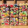 3 pçs/lote Fruta Dos Desenhos Animados 3D Adesivos Melhor Presente para As Crianças do jardim de Infância As Crianças Desenvolver A Inteligência de Brinquedo Popular Adesivos de Recompensa