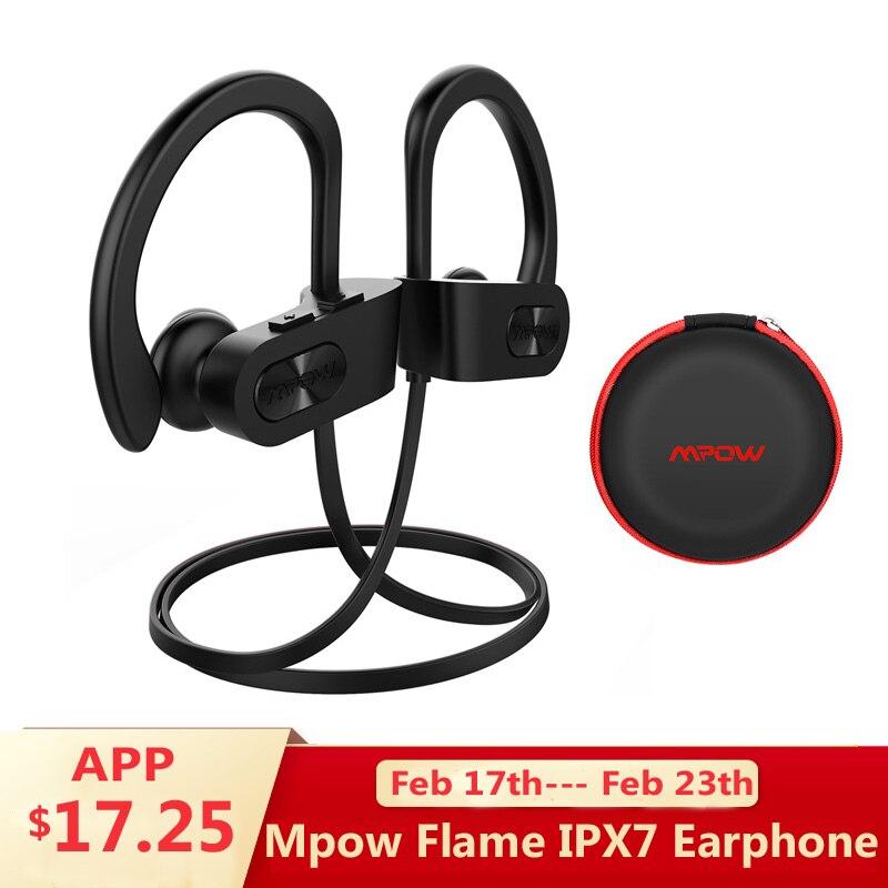 Mpow llama auriculares inalámbricos Bluetooth V4.1 impermeable IPX7 auriculares de cancelación de ruido auriculares con micrófono para iPhone X 8 Xiaomi 8