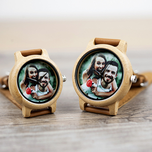 Image 4 - Creative Personality Lovers Watches UV Printing Photos Customers Bamboo Watch Customization Print OEM Great Gift for Love OEM