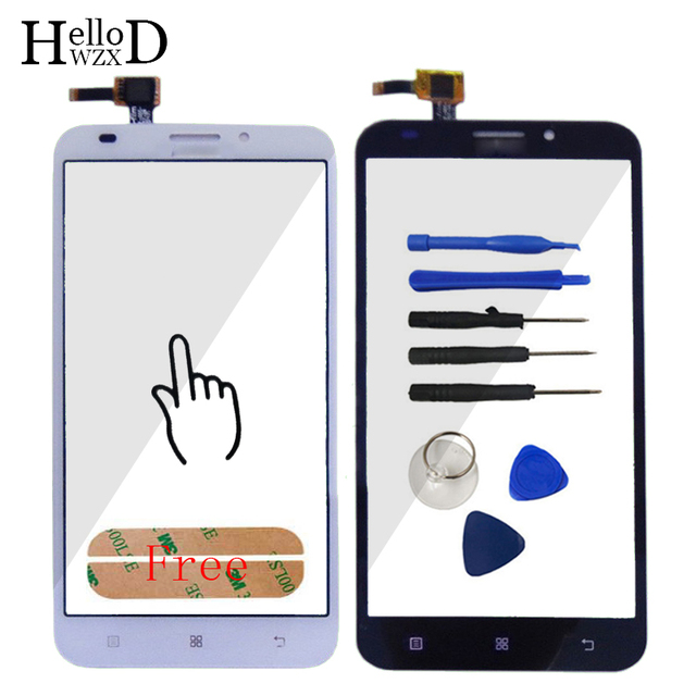 High Qulaity HighScreen Touch Glass For Lenovo A916 A 916 Touch Screen Digitizer Panel Front Outer Glass Lens Sensor + Adhesive