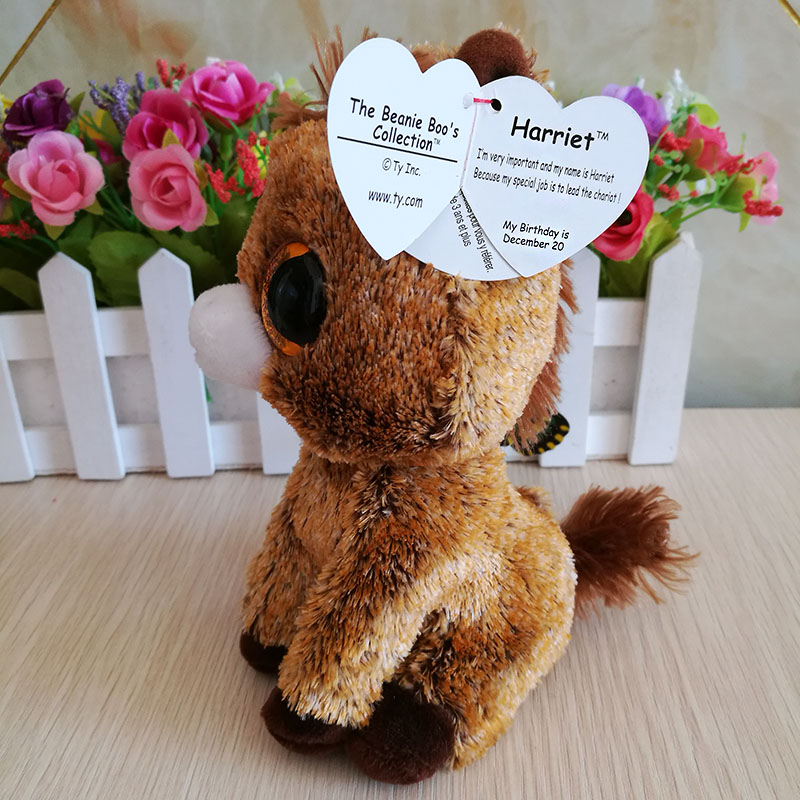 Ty Beanie Boos Collection Plush Toy 15cm Harriet Horse Soft 6 inch Kids Toy  Birthday Gift Stuffed Animal In Stock -in Stuffed   Plush Animals from Toys  ... 09524c042aa