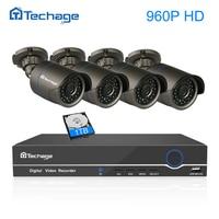 Techage HD 8CH 4CH 1080P 48V POE NVR CCTV System 1 3MP 960P Outdoor Waterproof IP