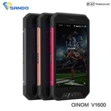 Newest Original OINOM V1600 IP68 Quad Cores 2GB RAM 16GB ROM 4.7Inch 4G LTE Android 5.1 8.0MP 3000mAH Waterproof Phone lmv9 s6
