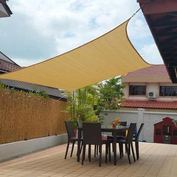 Neu 3X4 m/4X4 m UV Schutz 70% Wasserdichte Oxford Tuch Im Freien Sonne Sonnenschutz schatten Net