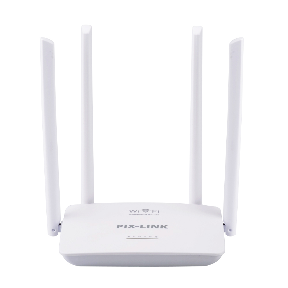 English Firmware Wireless Home Router WIFI Repeater Booster Extender Network 802.11 b/g/n 5 Port RJ45 300Mbps White 4 Antennas