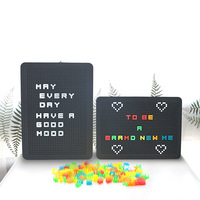 Peg Board Light Box LED Puzzle DIY Light Box Pegboard Lamp Can Hang Luminous Advertisement Signal Lamp Board Colored Letters Opt