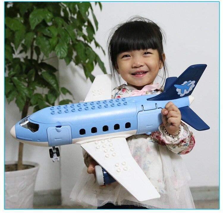 69 stks Kinderen bouwstenen Plastic model kits luchthaven Aerospace gemonteerd model kinderen speelgoed - 5