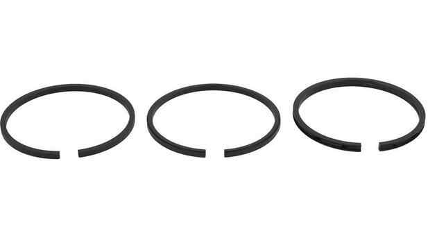 3pcs Spare Parts Air Compressor 51mm Diameter Piston Rings Set Black