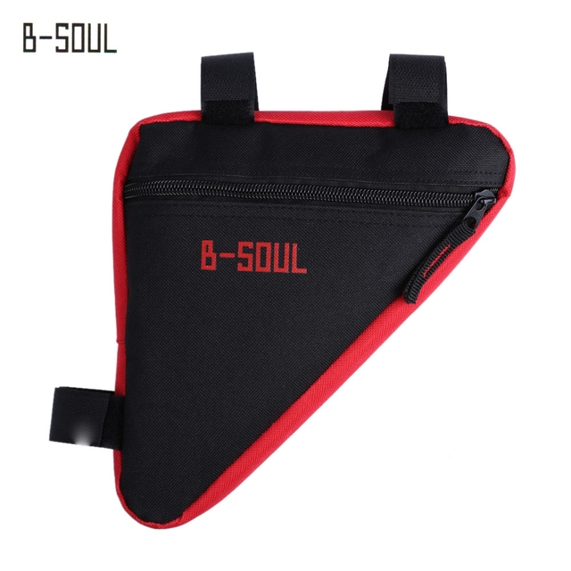 B - SOUL Bicycle Front Tube Triangle Bag Outdoor Cycling Accessories 4 Colors Bicycle Bags Panniers Oxford Cloth Bike Bag