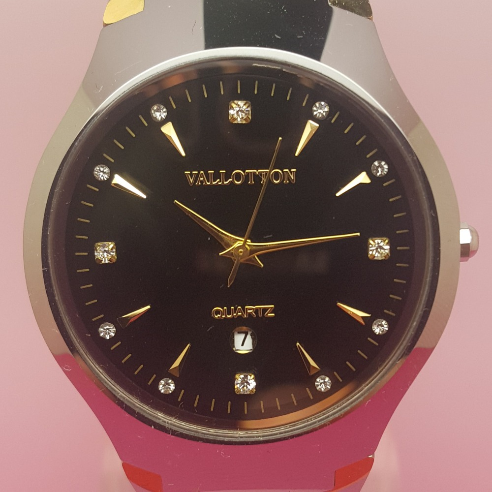 2017 New VALLOTTON Brand Fashion Casual Waterproof Watches Couple Quartz Watch