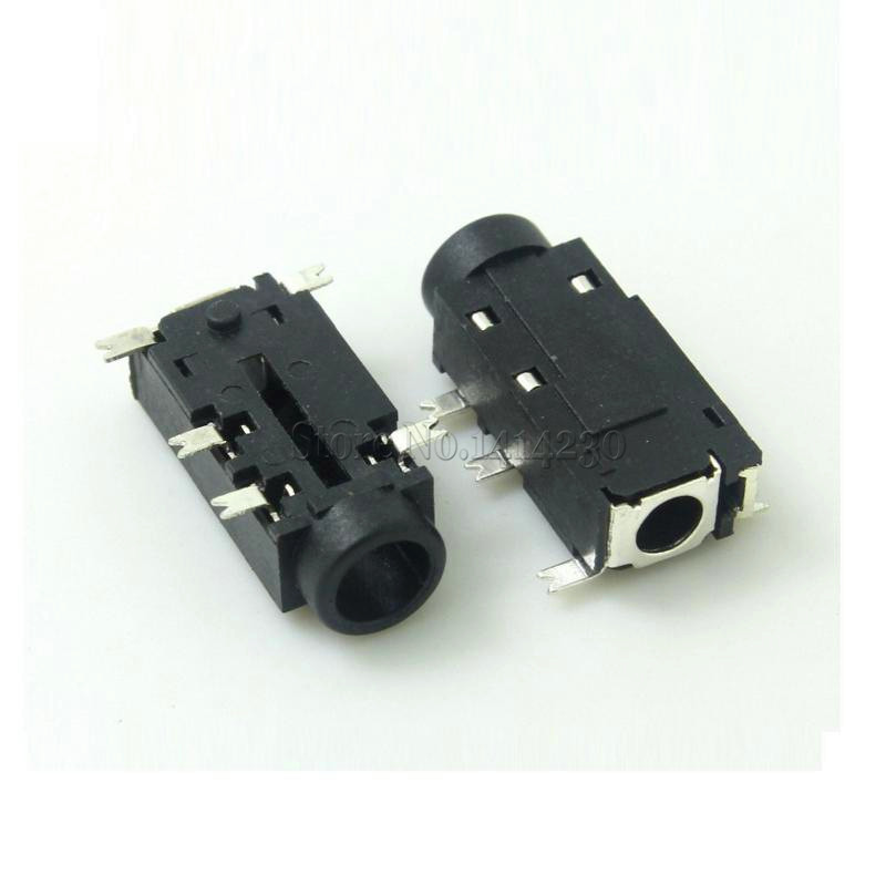 High Quality 5PCS 3.5mm Headphone Socket 5 Pins SMT With Switch Audio Jack