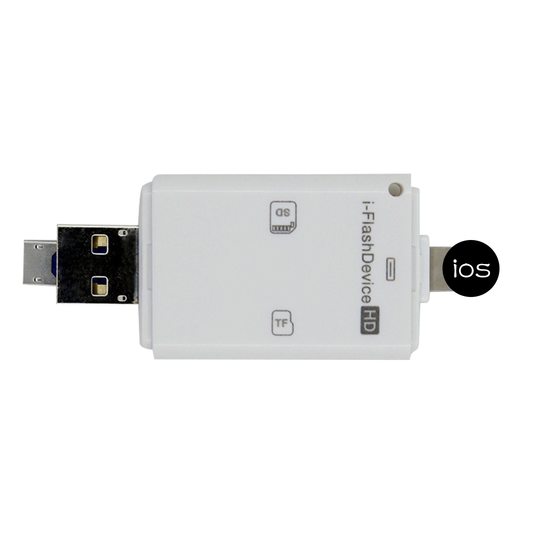 Etmakit 3in1 lector Micro USB Micro SD SDHC TF tarjeta SD para iPhone 5/5S/6/6 7 plus/ipad pro air/Samsung/LG/HTC Andrid OTG teléfonos