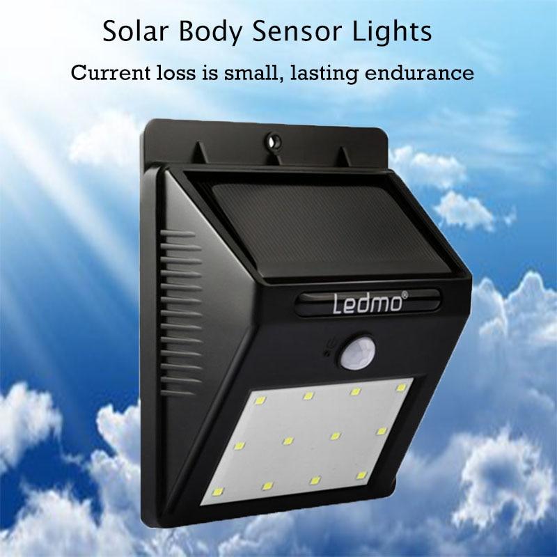Solar Lamp Wall Senor Light Outdoor Waterproof  Lampada 12LED Led Solar Light Energy Powered Sensor Detector Solar Wall Light