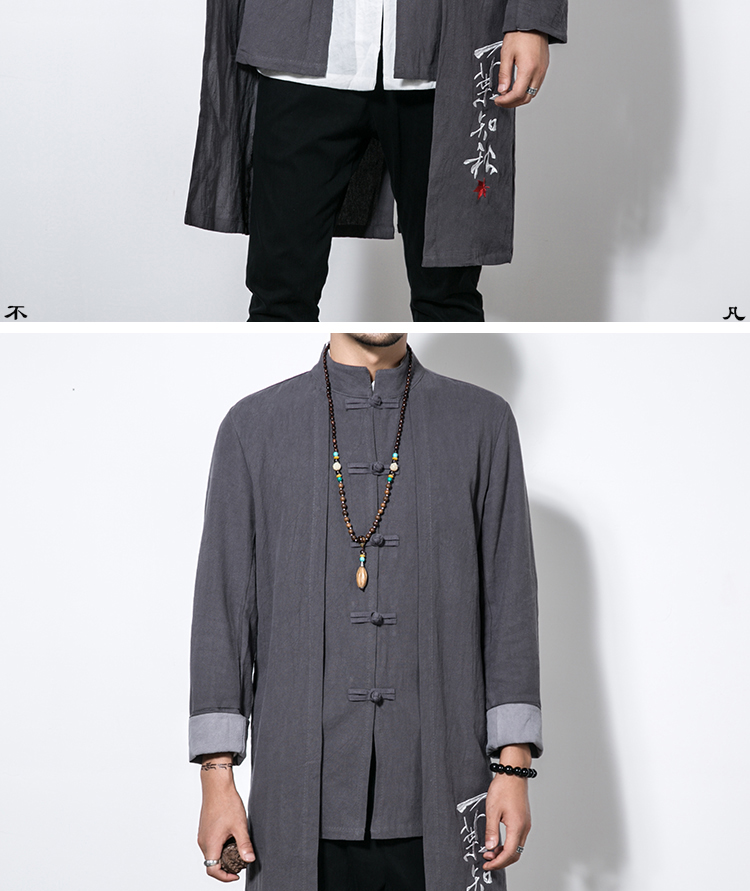 3b1211bf6ab Sinicism Store 5XL Long Length Jacket Men Trench 2017 Cotton Linen Fabric  Male Embroidery Jacket Coat Windbreaker Size Plus Trench Cheap Trench  Sinicism ...