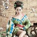 Dinastía Tang chino antiguo traje traje de espiga Hanfu Kimono japonés Geisha Kimono clásico traje atractivo para mujeres