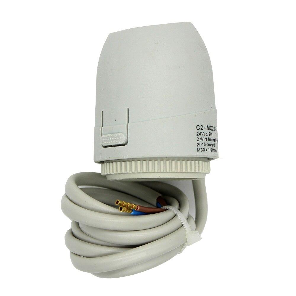24 V 230 V NO NC normalmente abierto cerrar actuador térmico eléctrico válvula para colector ambiente radiante calefacción por suelo radiante electrotermico
