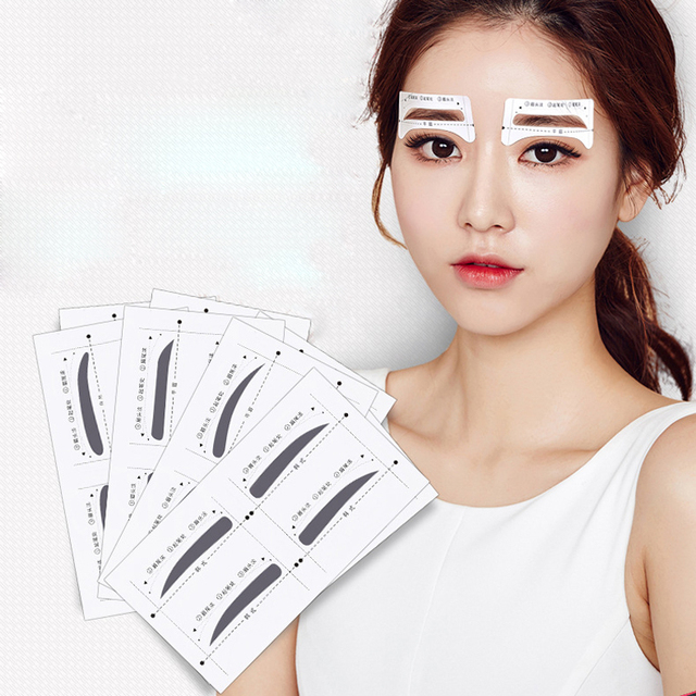 8pair/Set Eyebrow Stencil Shaping Tool Models Eye Brow Template Drawing Card Stencil for Eyes Eyebrow Shaper Beauty Makeup Tools