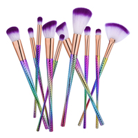 Pro 10 12pcs Makeup Brushes Set Comestic Powder Foundation Blush Eyeshadow Eyeliner Lip Beauty Make Up