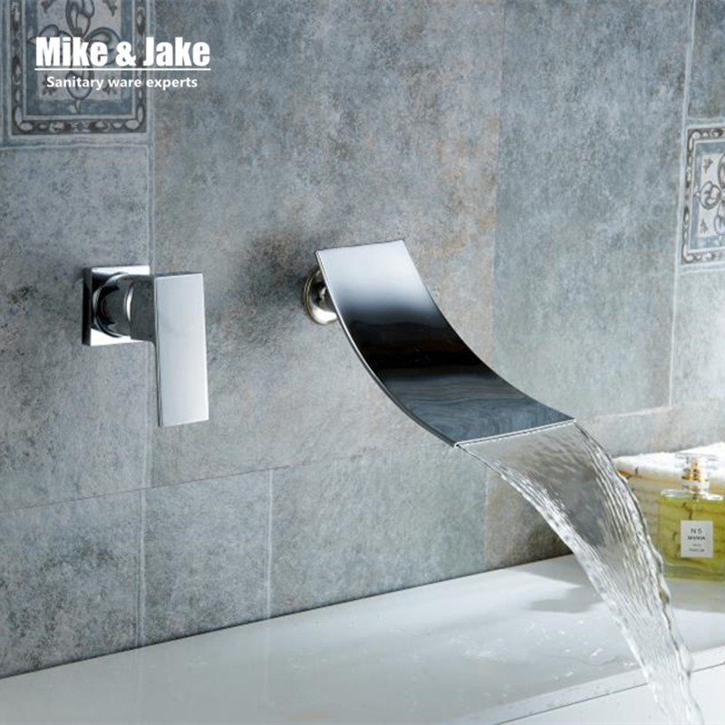 Wall Faucet basin crane single handle bathroom waterfall faucet bathroom faucet torneira faucet water tap brass mixers MJ-9863 цена