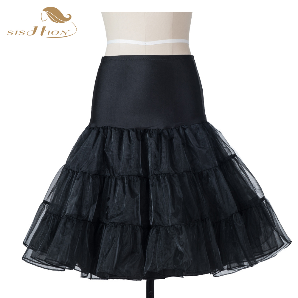 Tutu Skirt Rockabilly Petticoat Underskirt Fluffy Pettiskirt for Wedding Bridal Retro Vintage Women Gown Faldas Tulle Skirt
