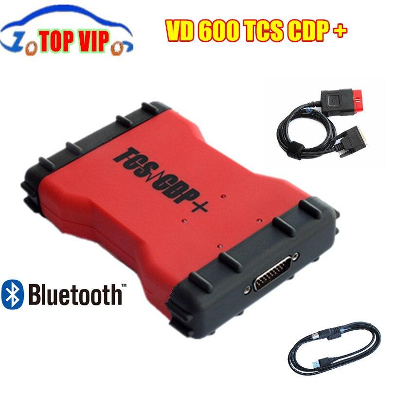 Цена за Новинка 2017 года 2015. R3 с Keygen VD600 Bluetooth TCS CDP OBD2 VD 600 Bluetooth CDP Pro 3 в 1 диагностический-инструмент для автомобили и грузовики