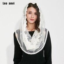 Müslüman başörtüsü Jersey pashmina şallar hindistan Femmes kadın eşarp pamuk dantel fildişi beyaz başörtüsü tam kapak iç kaplamaları