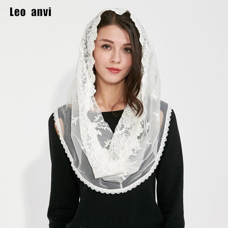 Musulman Hijab Jersey pashmina châles inde Femmes Femmes écharpe coton dentelle ivoire whiter Tête Écharpe Pleine Couverture Intérieure Revêtements
