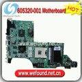 605320-001, placa madre del ordenador portátil para hp dv7 dv7t series mainboard, tablero de sistema