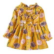 Baby Dresses Full Sleeve Girls Clothes Autumn Princess Dress Kids Children Party