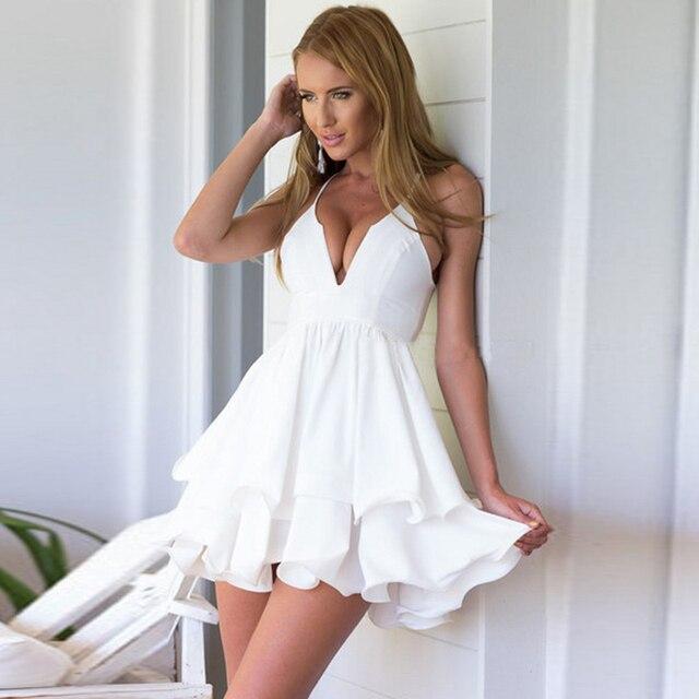 0e86e3235ff Халат De коктейльное Sexy шифон v-образным вырезом короткие белые  коктейльные платья 2017 Runched Арабский