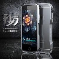 Nouvelle Version Luphie Aluminium Metal Armor Pare-chocs Cadre Homme Cas de Couverture Pour IPhone 6 et Pour iPhone6 Plus