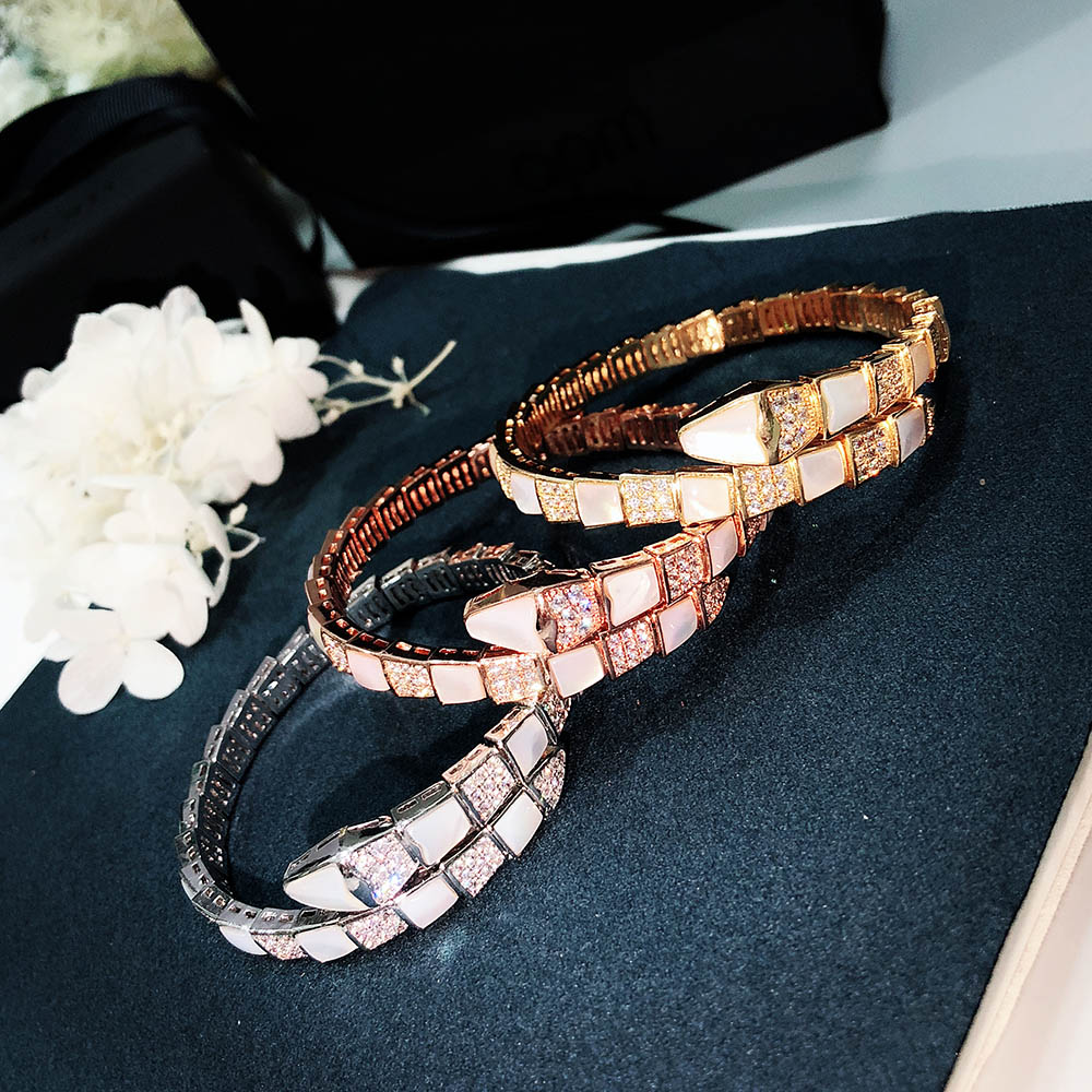 Hot selling brand S925 pure silver cute Snake Bracelet personality fashion queen noble temperament mysterious trend