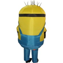 New Minion Cosplay Self Inflatable Party Costume For Adult