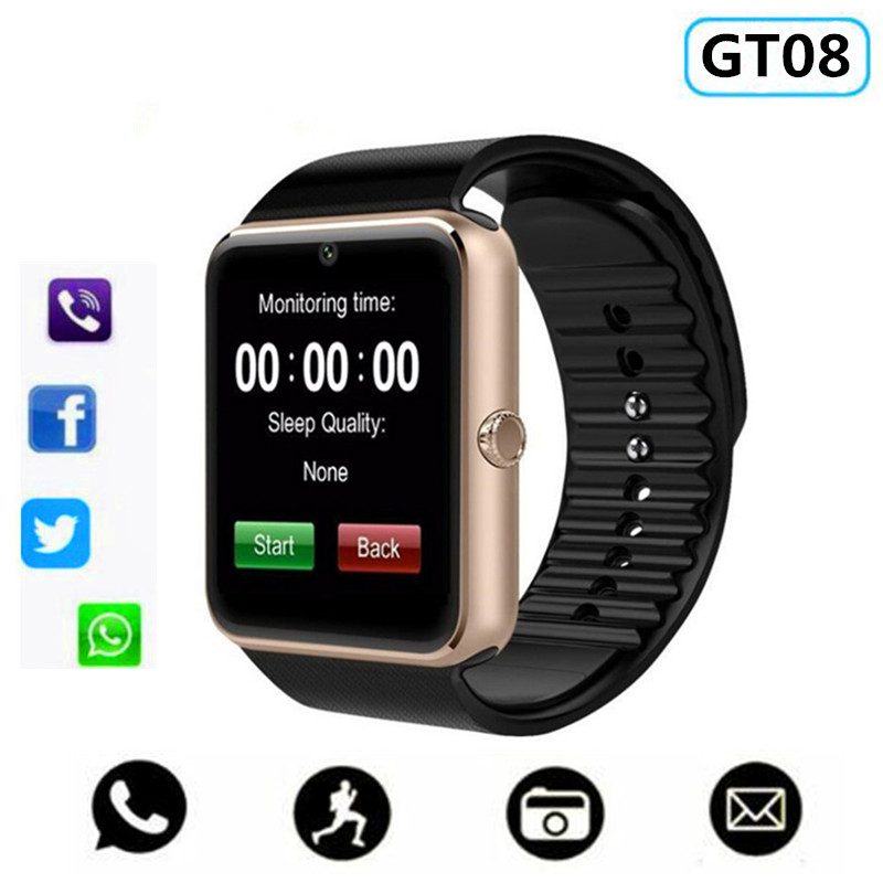 Original Smart Watch GT08 Clock Sim Card Push Message Bluetooth Connectivity Android&IOS Phone PK Y1 DZ09 Q18 apple Smartwatch
