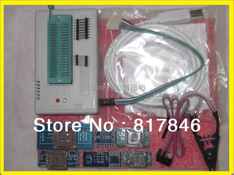 Free Shipping Russian&english files V6.6 EEPROM ICSP High Speed MiniPro USB Universal Programmer TL866A +6 adapter+IC SOIC8 Clip free shipping msop 10 msop10 universal adapter for usb programmer ic adapter sockets