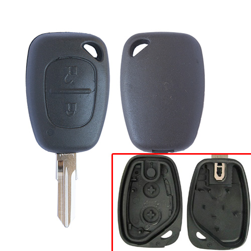 Free shipping 2 Button Remote Key Case For Renault Cilo With VAC102 Blade for Renault 10pcs/lot free shipping 3 button remote key with 7946 chip round button with vac102 blade for renault 5pc lot
