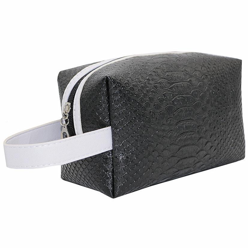 Low price New 2016 Nylon Multifunction Make up Organizer bag Women Fashion Quartet Crocodile Handbag Cosmetic Bag 8 Colors