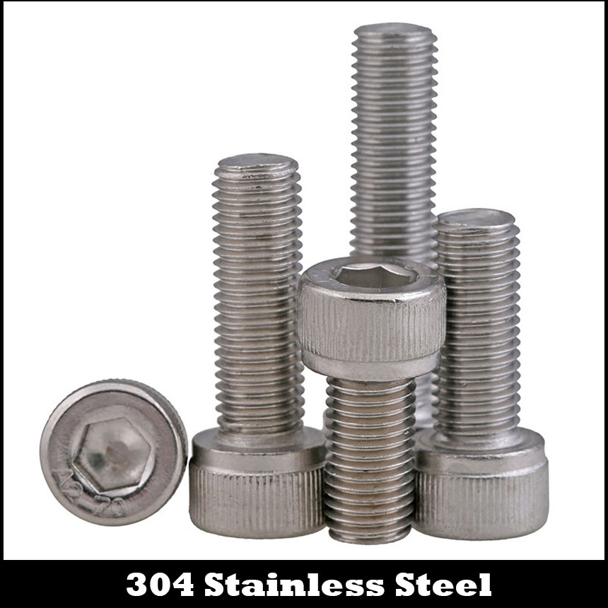 Good Holding Power in Different Materials 100 Durable and Sturdy 1//4-20x1 Stainless Steel Carriage Bolts Coarse Thread Round Head Screw