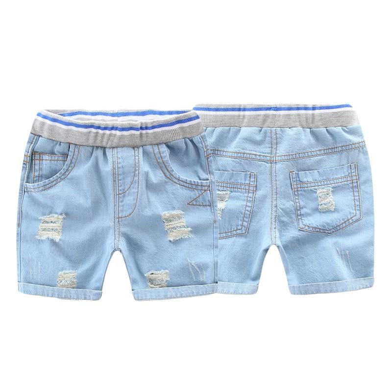 2019 Summer Baby Fashion   Shorts   Children Broken-Holes Jeans Baby Boys Cowboy   Short   Pants 1-6 Years Kids Denim Trousers Blue