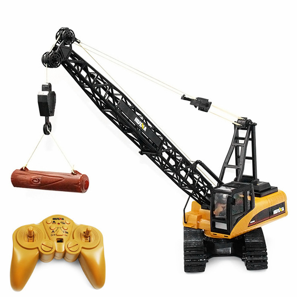 RC Trucks HUINA Toys 1572 1:14 15CH RC Alloy Crane Engineering Truck RTR Movable Latticed Boom Hook Mechanical Sound RC Trucks huina 1586 1 18 6 channels 2 4g engineering truck snowplows alloy rc car toys