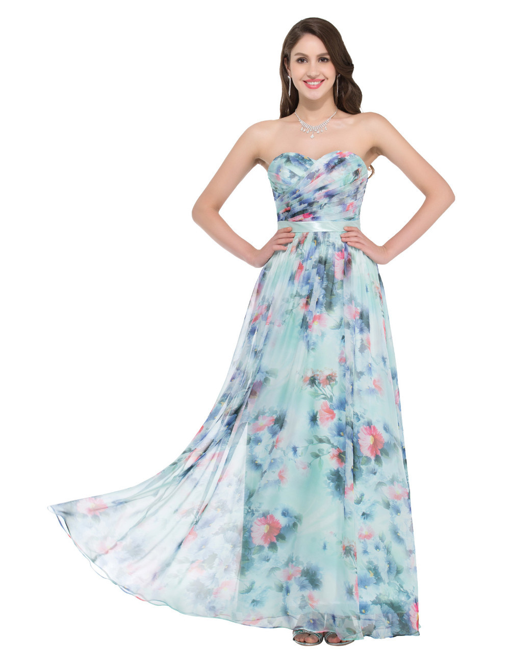 HTB1wAjsNpXXXXc.XVXXq6xXFXXXPFloral Print Formal Occasion Floor length Evening Dress