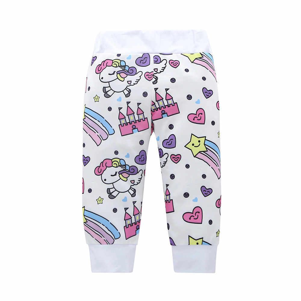 Newborn Infant Baby Girl Clothes Set Fashion Unicorn Pegasus Star Heart Castle 4/3 PCS Tops Bodysuit/T-shirt+Pants+Hat+Headband